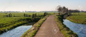 road between ditches
